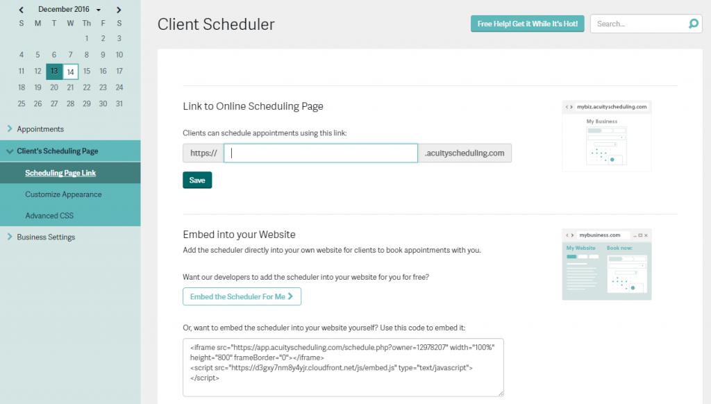 acuity scheduling - תוכנת יומן פגישות